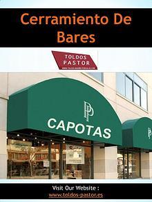 Cerramiento De Bares | 916838690 | toldos-pastor.es