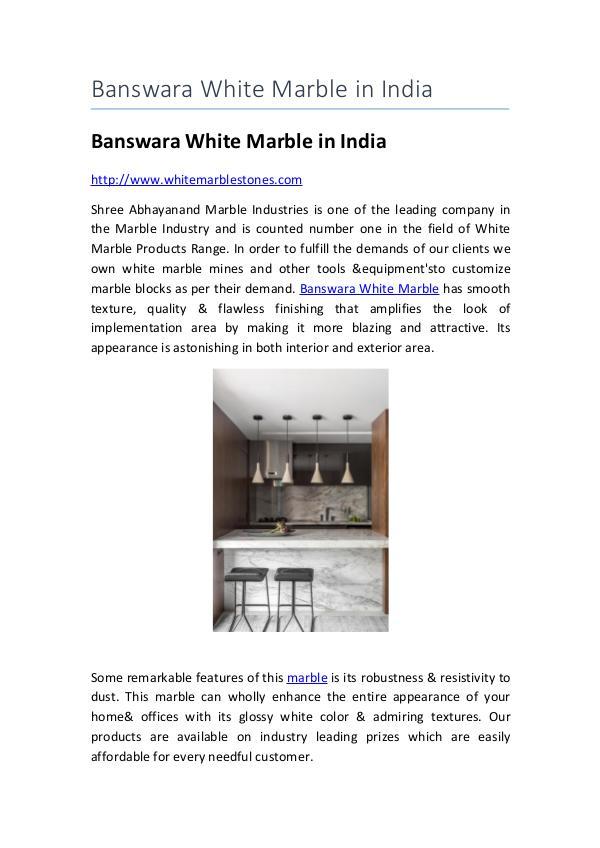 Banswara White Marble in India Banswara white marble in india