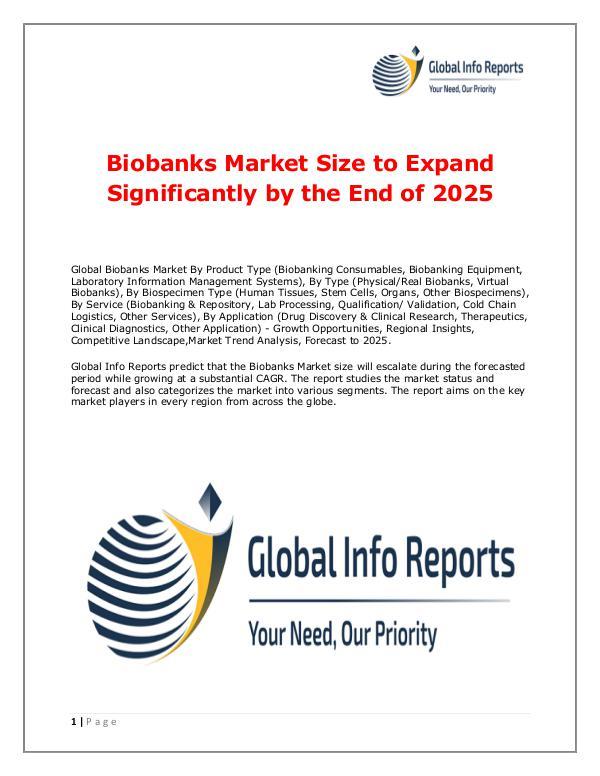 Biobanks Market 2018