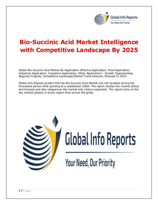 Bio-Succinic Acid Market 2018