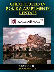 Cheap Hotels In Rome & Apartments Rentals