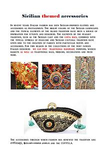 Tradizional sicilian themed accessories