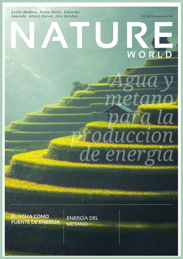 Agua y Metano para la produccion de energia. 2.1