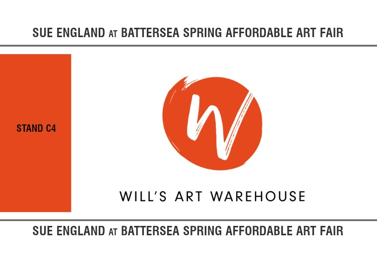 Sue England at Battersea Affordable Art Fair 2019 1