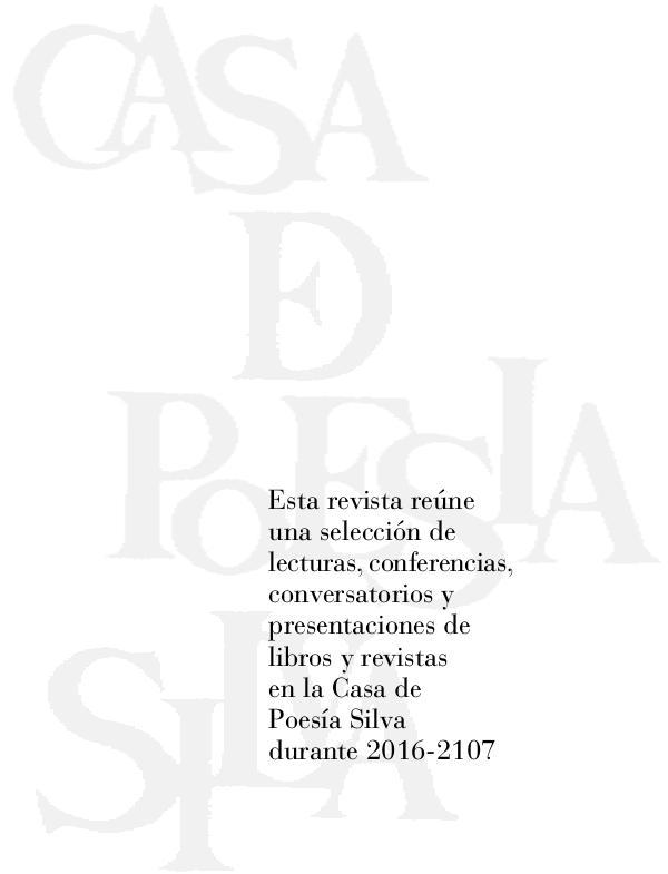 Revista Casa Silva Nos. 30 - 31 R.CasaSilva 30-31 completa