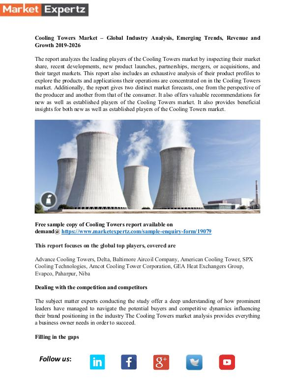 My first Publication Cooling Towers Market
