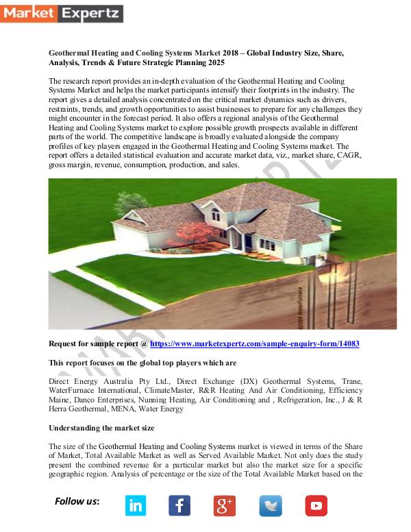 My first Publication Geothermal Heating and Cooling Systems