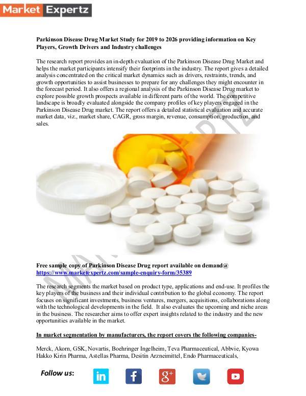 My first Publication Parkinson Disease Drug
