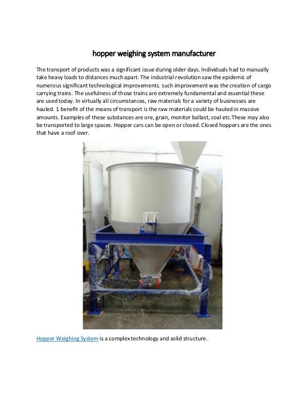 hopper weighing system manufacturer hopper weighing system manufacturer-converted