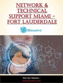 Network & Technical Support Miami - Fort Lauderdale