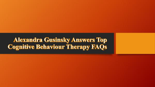 Answers Top Cognitive Behaviour Therapy FAQs