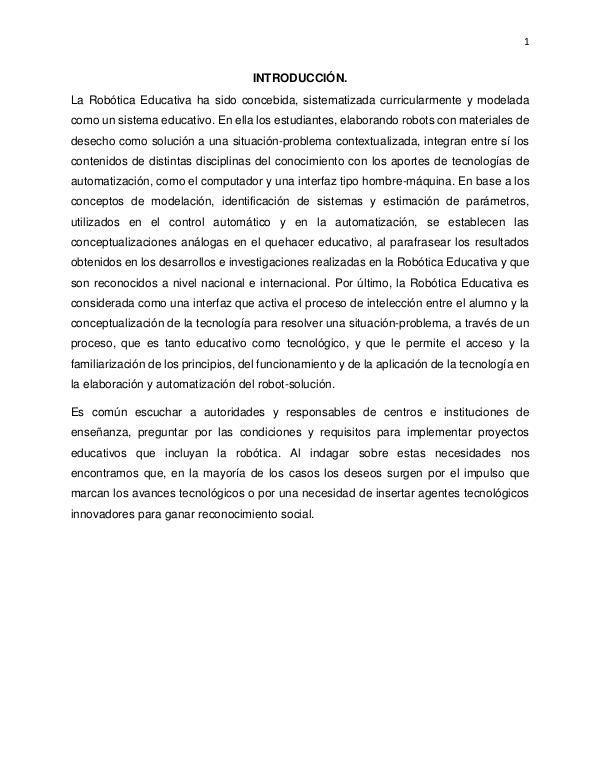 Proyecto Robotica PROYECTO ROBÓTICA