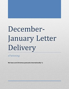 DECEMBER- JANUARY LETTER DELIVERY