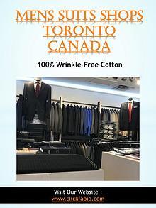 Menswear Toronto