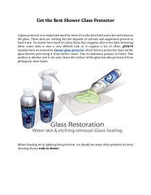 Best shower glass door cleaner and sealer