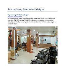 Top makeup studio in udaipur