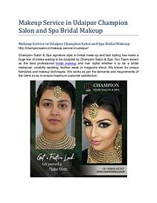 Makeup Service in Udaipur Champion Salon and Spa Bridal Makeup