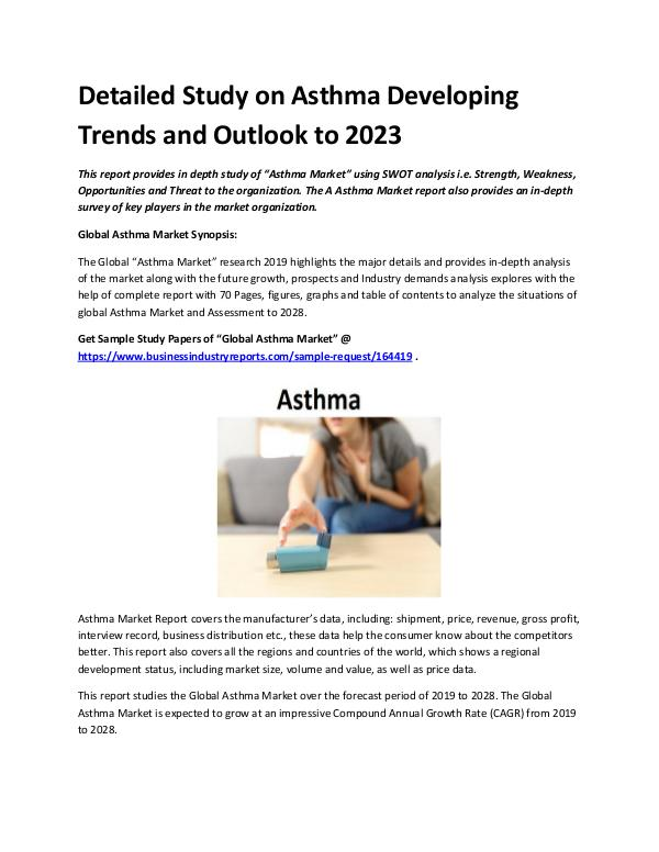 Market Analysis Report Asthma Market 2019 - 2023