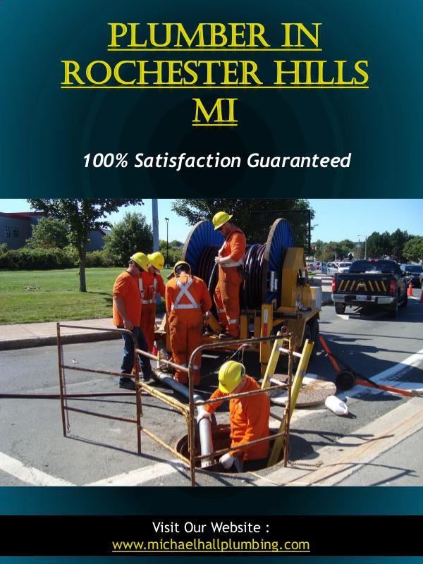 Plumber In Rochester Hills Mi | Call - 586-298-7285 | michaelhallplum Plumber In Rochester Hills Mi