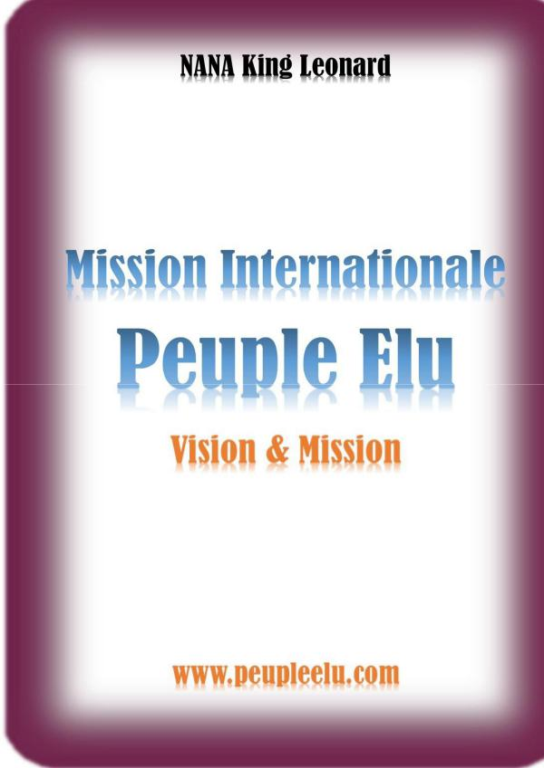 Magazine des Elus de Dieu Mission Internationale Peuple Elu