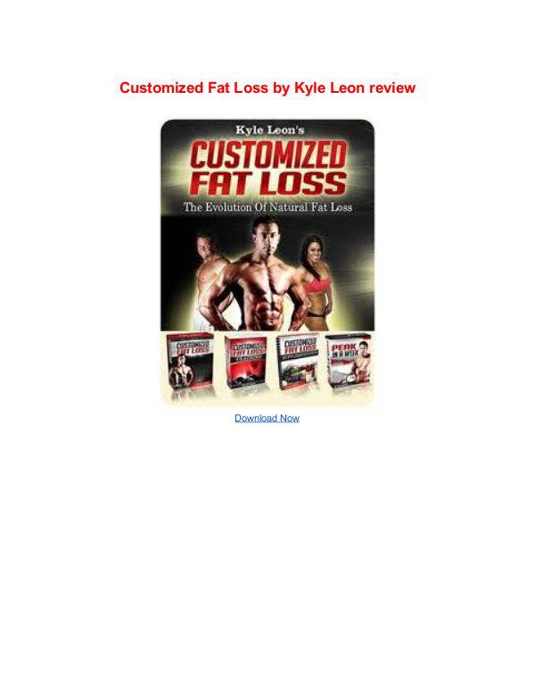 Customized Fat Loss Kyle Leon Customized Fat Loss Kyle Leon review