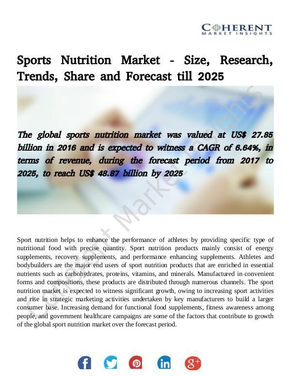 Market Research Global Sports Nutrition Market
