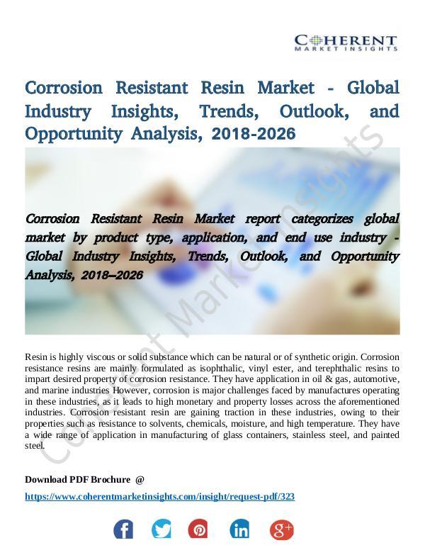 Corrosion Resistant Resin Market