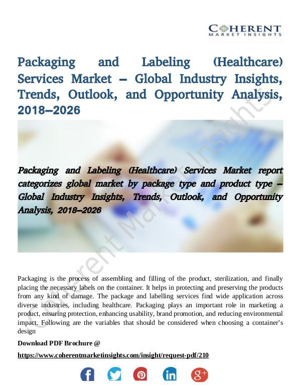 Packaging and Labeling (Healthcare) Services Marke