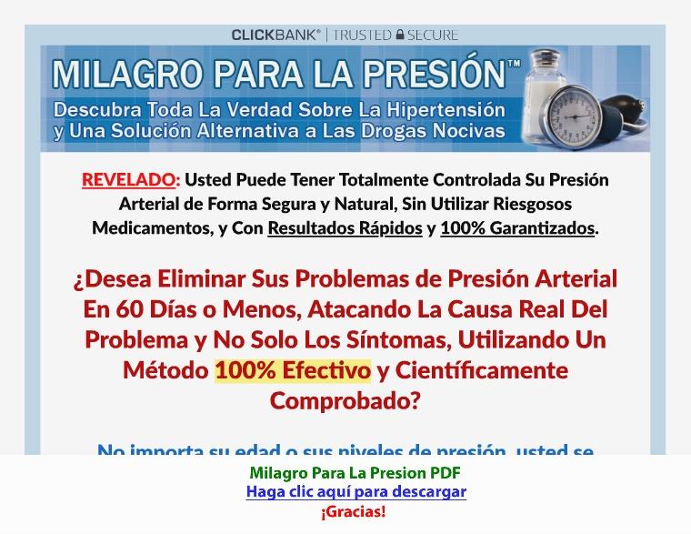 Milagro Para La Presion [PDF]