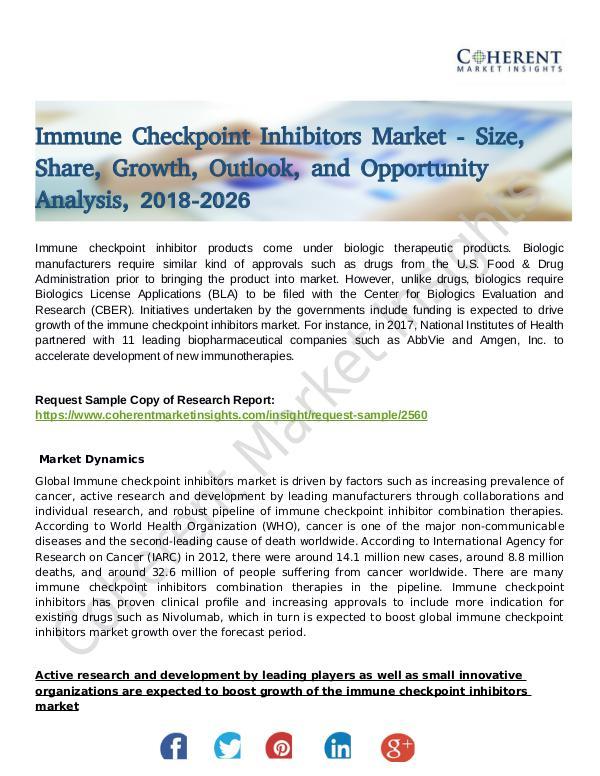 Immune Checkpoint Inhibitors Market