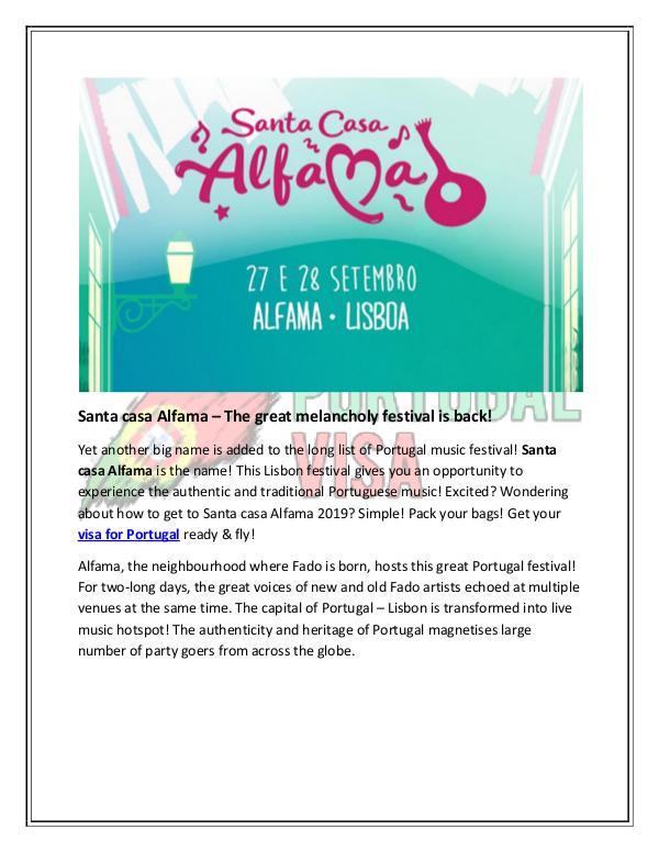 Santa casa Alfama – The great melancholy festival is back! Santa casa Alfama