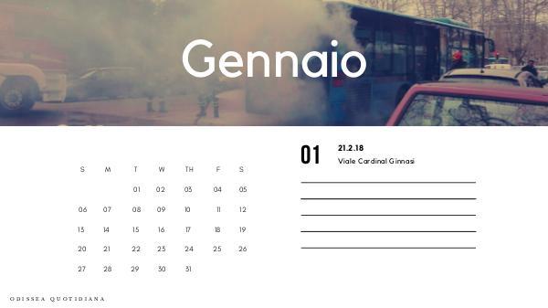 Odissea Quotidiana - Il calendario Flambus del 2019 Calendario Flambus
