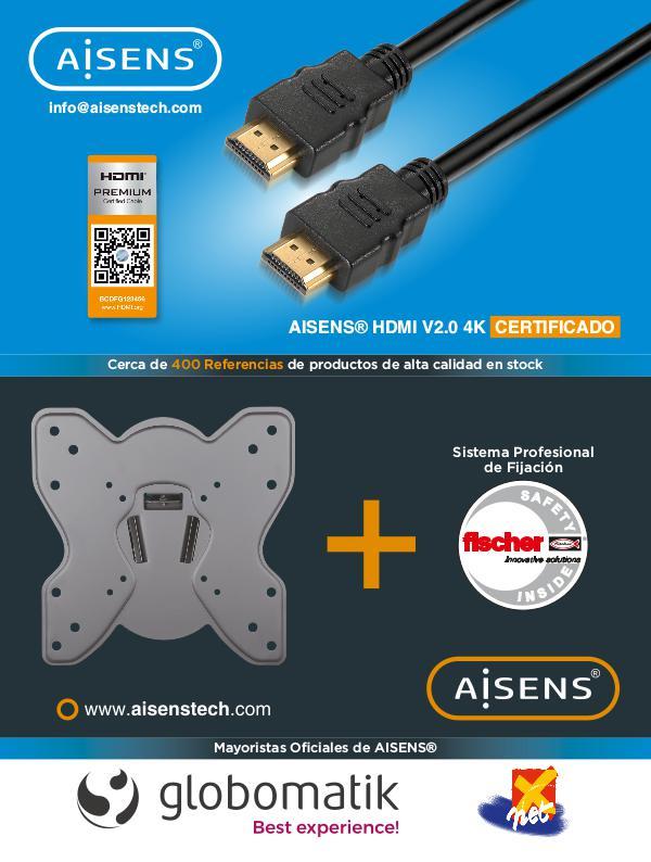 Mayoristas oficiales de AISENS cables conexiones soportes audiovisual Revista 20190102 web