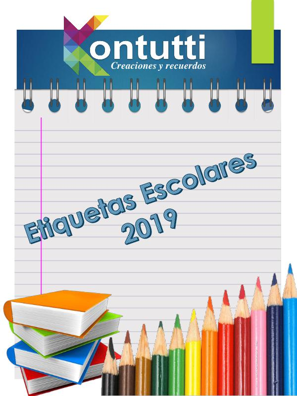 Catalogo etiquetas escolares CATALOGO ETIQUETAS 2019