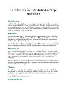 Scholarship Sharing Websites list