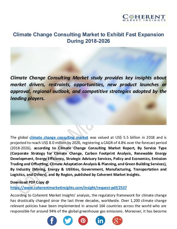 Climate Change Consulting Market