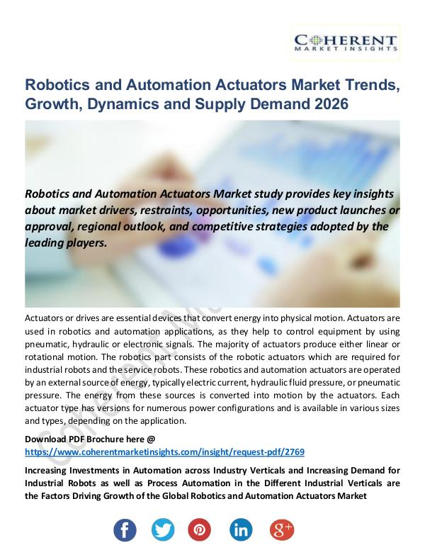 Robotics and Automation Actuators Market