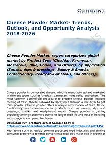 Cheese Powder Market- Trends, Outlook, and Opportunity Analysis 2018-