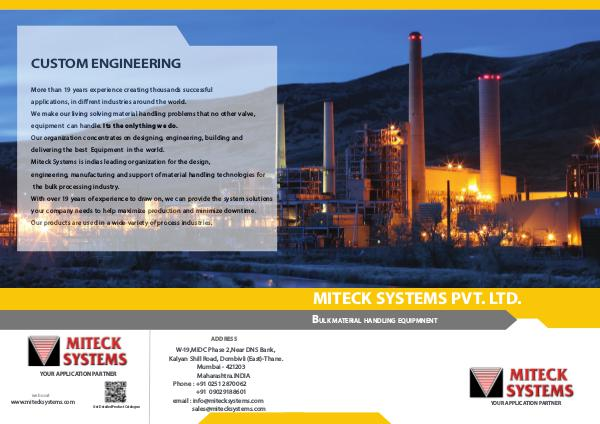 Miteck systems Pvt. Ltd Miteck systems  Product catalogue