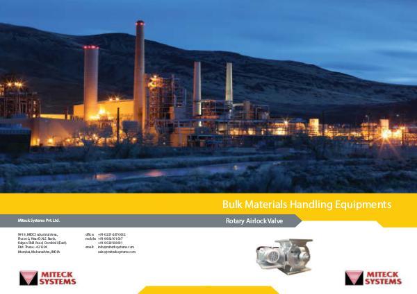 Miteck systems Pvt. Ltd Miteck Brochure-Rotary airlock valve