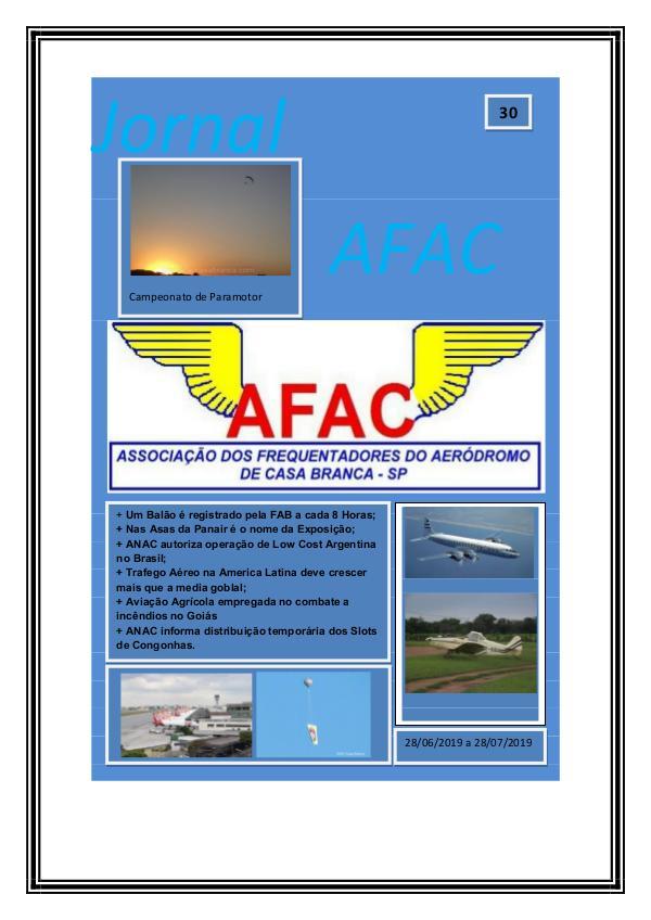 Jornal Digital AFAC - Edição 30 Edição 30-