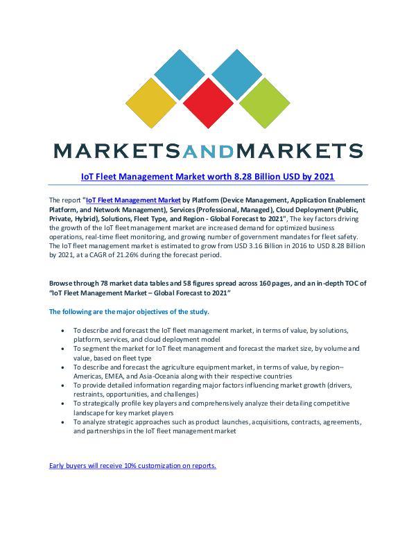 Automotive Market Revenue, Trends, Growth, Technologies, CAGR IoT Fleet Management Market - 2021