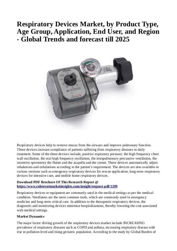 Healtcare Respiratory Devices Market