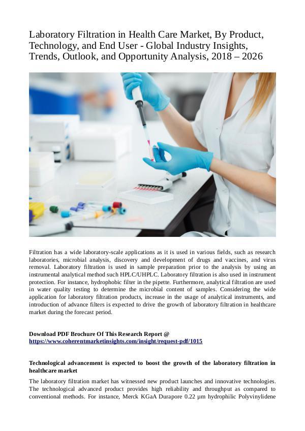 Laboratory Filtration in Health Care Market