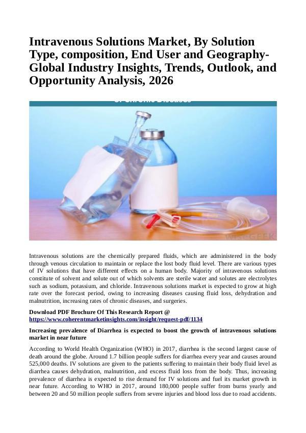 Intravenous Solutions Market