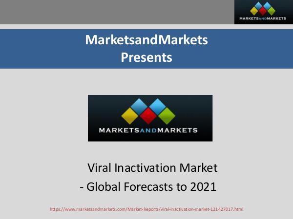 Viral Inactivation Market - Drivers, Restraints