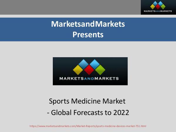 Sports Medicine Market, By Application
