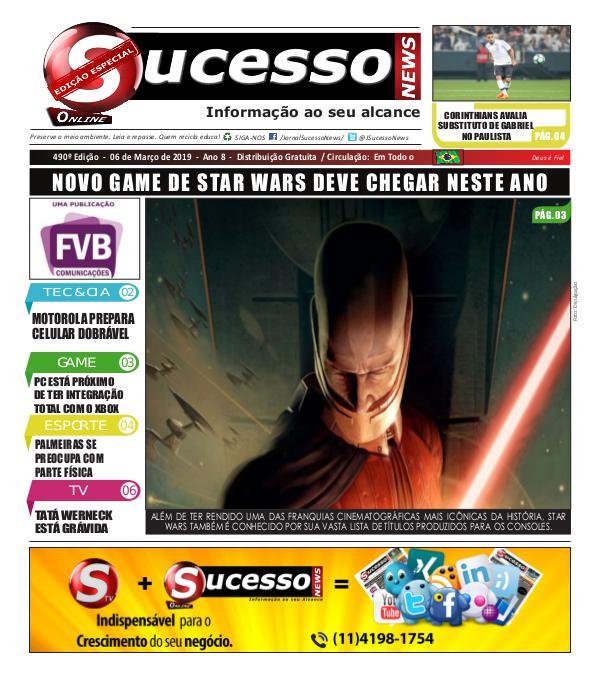 Jornal Sucesso News Jornal Sucesso News - Edição - 490 ONLINE