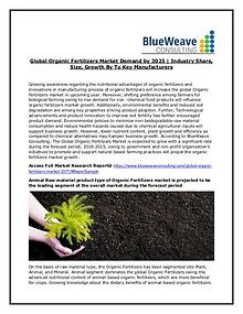 Organic Fertilizers Market Future Forecast 2018 – 2025