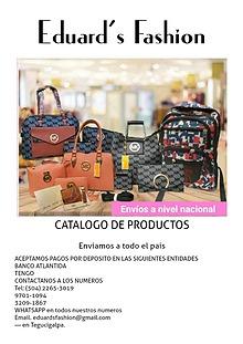 CATALOGO DE PRODUCTOS EDUARD'S FASHION
